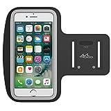 MoKo Bracciale Sportivo per iPhone 7 Plus, iPhone 6s Plus / 6 Plus - Fascia da Braccio per Corsa e Palestra, con Slot portachiavi, Resistente a sudore, Nero