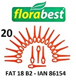 Florabest 20 Kunststoffmesser Florabest Akku Rasentrimmer FAT 18 B2 - LIDL IAN 86154 - FAT 18B2 / FAT18B2 / Material PA6