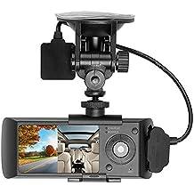 Zibuyu Dual Lens 2.7In LCD HD Car Auto DVR Camera GPS Logger G-Sensor Dash Cam (Zibuyu-207695)