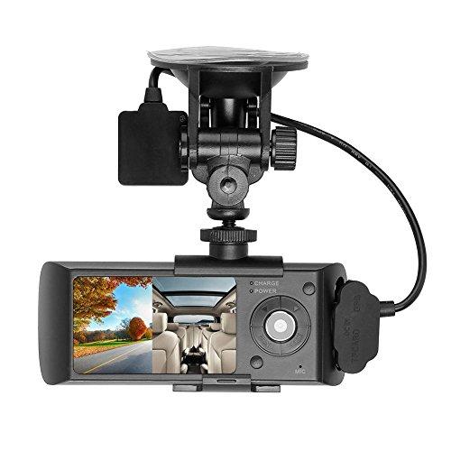 Prettygood7 Auto-DVR-Kamera mit 2 Linsen, 2,7 Zoll (6,9 cm), LCD-Display, G-Sensor, Dashcam