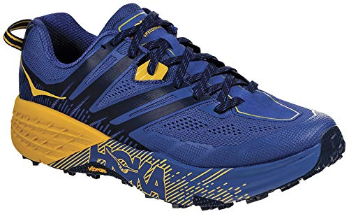 HOKA ONE One Speedgoat 3 Deportivas Hombres Azul/Oro - 44 - Running/Trail