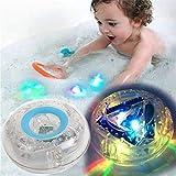 forepin Badewannenspielzeug Badezimmer LED Spielzeug Kinder, Wasserdicht Unterwasser-Schwimm Lampe Babyspielzeug Kleinkindspielzeug (2 Pack)