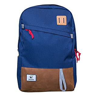 Atlantis Land P004-BP1340-B Nylon Blue/Brown Backpack (Nylon, Blue, Brown, Uniform, Unisex, 39.6 cm (15.6 inches), Front Pocket)