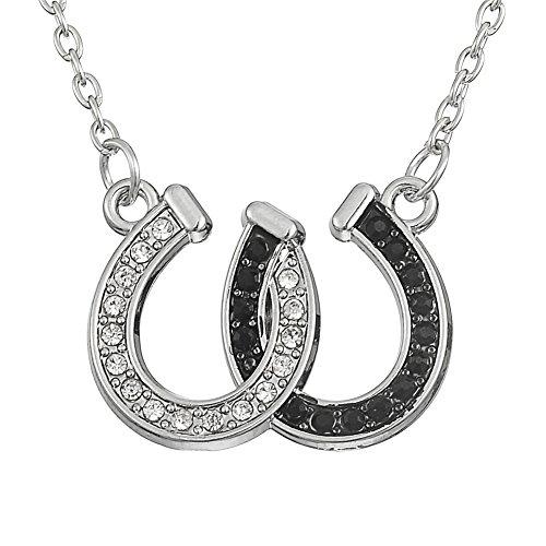 Collar con colgante de herradura de cristal, simbolo de la suerte, regalo para personas