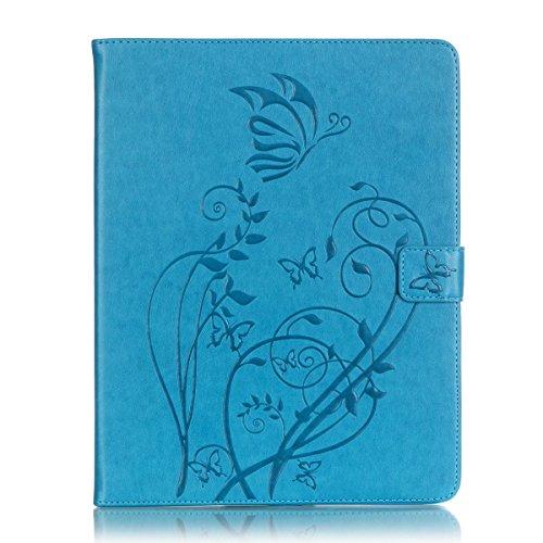 Cozy Hut Slim Printing Graphic Design Muster PU Lederhülle Case Cover Etui Schutz Hülle Tasche für Apple iPad 2,3,4 -blau