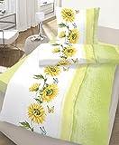 Ido Renforce Bettwäsche Sonnenblume - 2 tlg. 80x80 + 135x200 - 100 % Baumwolle