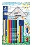 Staedtler 61 SET42 - Mäppchen Set mit Lineal und Zeichendreieck