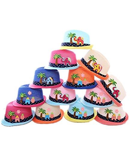 drasawee enfants filles garçons de plage d'été chapeaux Sun Protection Bouchons 10#