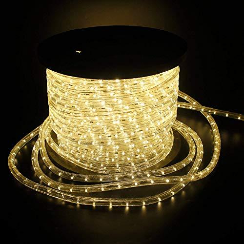 kefflum LED Lichterschlauch 30M, Lichtschlauch Lichterkette Licht Leiste 36LEDs/M Schlauch für Innen und Außen IP44 Warmweiß
