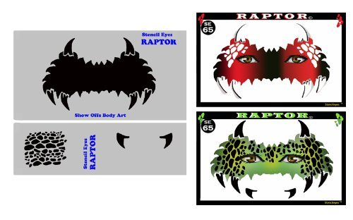 face-painting-stencil-stencileyes-raptor-dinosaur-mask-by-showoffs-body-art