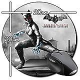 Batman Arkham City Armored Edition Catwoman Tappetino per Mouse Tondo Round Mousepad PC