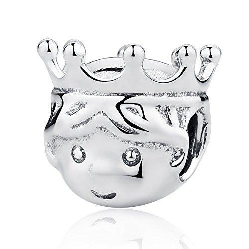 Precious prince charm in argento sterling 925ciondoli pandora e altri braccialetti europei