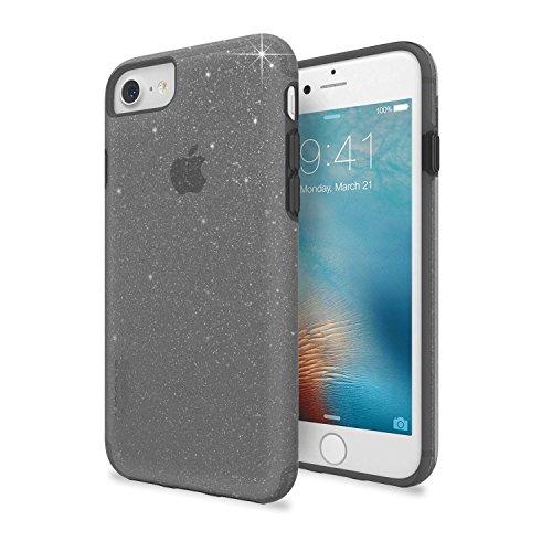 Skech Matrix Sparkle Schutzhülle für Apple iPhone 8 / 7 / 6S / 6 in transparent/grau [Ultra robust | 2m Sturzfest | Glitzer-Textur | Erhöhte Displaykante | Schockabsorbierend] - SK28-MTX-NSPK (Sparkle Mikrofon)