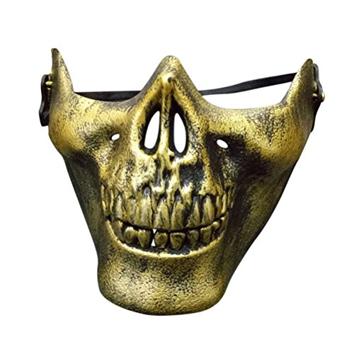 LUOEM Schädel Skelett Halbmaske Halloween Maske für Cosplay (Halloween Maskerade Maske)