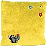 Trullala Kuschelkissen, der kleine Maulwurf, aus der Sendung mit der Maus, in gelb, 30 x 30 cm