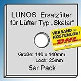 5x Original - Filter - Filtereinsatz für LUNOS Typ