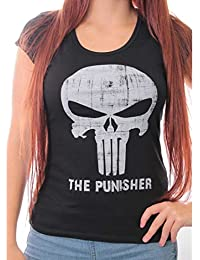 Camiseta para mujer, diseño de Punisher de Marvel The