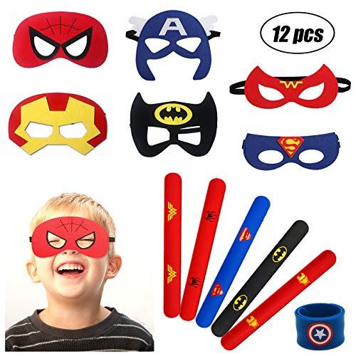 YuChiSX 12 Piezas Máscaras de Superhéroe