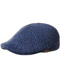 Kangol Indigo 507 schmale Flatcap aus Baumwolle - indigo wash