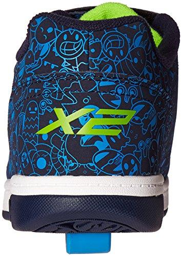 Heelys X2 Dual Up, Scarpe da Ginnastica Basse Bambino Blu (Navy / Blue / Print)