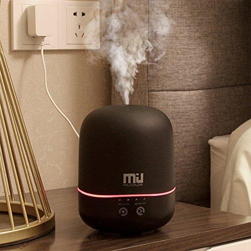 MAFYU 3.7 Ätherische Öle Duftlampen, Luftbefeuchter, Plug In Ultraschall Aromatherapie, 300 Ml, Größe: 16,5*11,5 cm, schwarz, 300 ml (Luftreiniger Kleiner Plug-in)