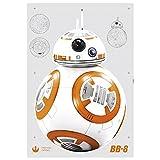 "Komar Deco-sticker""Star Wars BB-8"", 1 stuks, geel/wit, 14726h, stickers, muurstickers, wandafbeelding,"