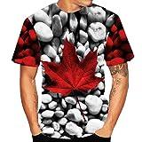 MRULIC Herren T-Shirt 3D Heißes 2019 Oberseiten Buntes Jungen Sommer Sweatshirt Sporthemd Streetwear Geeignet für Bar und Party Sun wie Feuer Strandoberteile(H-Schwarz,EU-L/CN-XL)