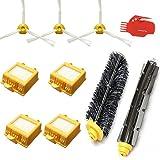 FBSHOP(TM) Kit de Reposición para iRobot Roomba 700 760 770 780 790 vacío Serie Limpia-3xcepillos laterales de 3 Armadas,1Cerda Cepillos & 1 Flexible Beater Cepillos & 1x clean tools &4x HEPA Filtro