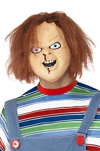 Maske Chucky die Mörderpuppe Mörder Killer Chuckymaske Halloween (Scary Clown-puppe)