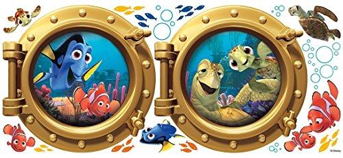RoomMates RM - Disney Findet Nemo Bullaugen Wandtattoo, PVC, bunt, 48 x 13 x 2.5 cm