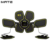 IMATE Abs Trainer EMS Muscle Stimulator Abdominal Toning Belt Abdominal Exerciser Body Fitness Trainer Ab Muscle Toner for Men & Women