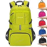 ZOMAKE Leggero Zaino Viaggio, 35L Zaino Trekking Idrorepellente Pieghevole Daypack per Viaggio Hiking (Giallo fluorescente)