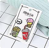 Enamel Pin Badge Souvenir Frites exquises Cola Badge Badge Badge Badge (Multicolore)