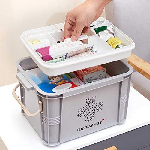 51aFjHxBUoL - Laurelmartina Diseño práctico para Uso en el hogar Botiquín de Primeros Auxilios Caja de plástico Botiquín de plástico Kit de Emergencia Organizador de Almacenamiento portátil