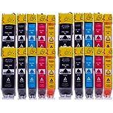 RuckZuck Ink Cartridge - Paquete de 20 cartuchos de tinta para Canon Pixma IP7250/MG5450/MG6350/MX725/MX925, multicolor [Importado]