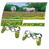 Pferde, Designfolie Sticker Skin Aufkleber Schutzfolie mit Farbenfrohem Design für PlayStation 3 Fat