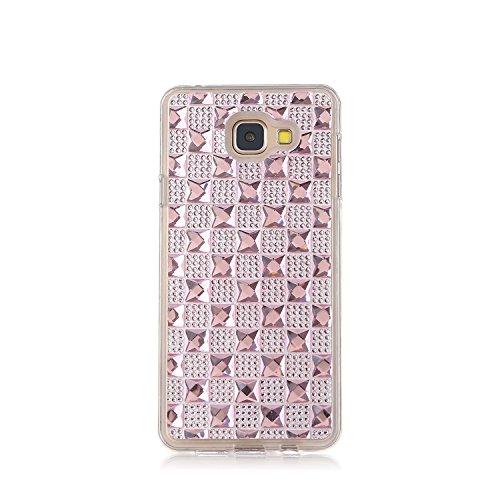 MOONCASE Galaxy A3 (2016) / A310 Hülle Glitzer Crystal Bling Strass Rückschale TPU Silikon Schutzhülle Tasche Case für Samsung Galaxy A3 (2016) / A310 Rosa