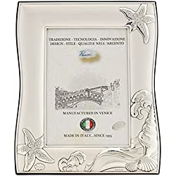 NETTUNO L Marcos de Fotos 10x15 cm Marcos de Plata Hechos a Mano Made in Italy