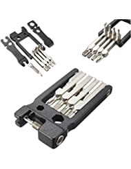 Mohoo Los detalles sobre 21 en 1 Multi Portable Herramientas de reparación de bicicletas kit del sistema de Llave hexagonal Destornillador Llave.