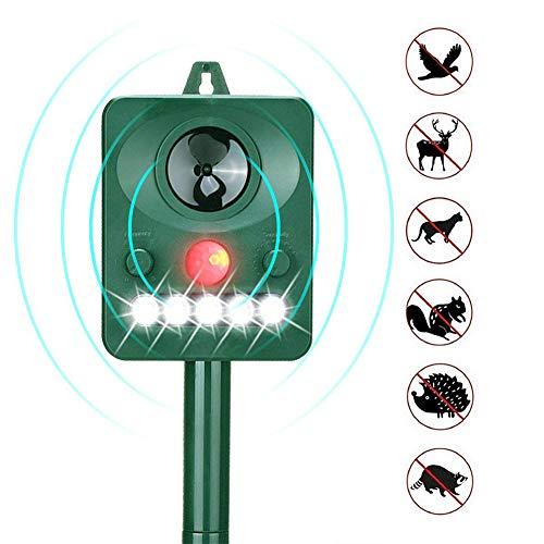 Solar Katzenschreck Tiervertreiber Abwehr Batteriebetrieben Und Blitz, Katzen Vertreiber, Wetterfest, Hundeschreck,Tierabwehr WaschbäRen