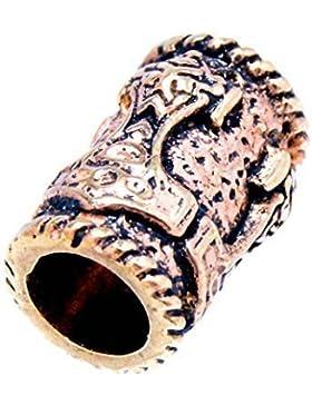 Bartperle Haarperle Bronze Thorshammer 5mm