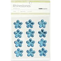 Autoadesiva di fiori strass 21mm 12/Pkg-blu