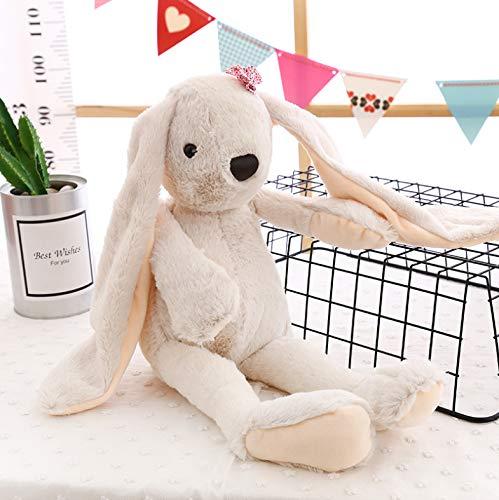 Design Silk Bow Tie (qingfengxulai Plush Fashion Cute Long-Eared Rabbit Plush Toy Soft Sweet Stuffed Toy Bow tie Bunny Sleeping Pillow Plush Cushion Girl Gift 45 cm)