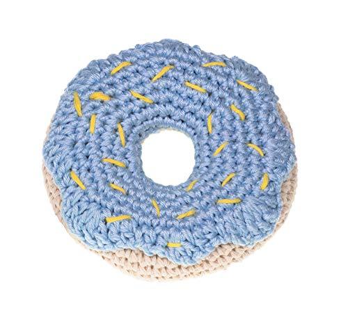MICHI MICHI-SC110 GIOCO CROCHET DONUT MIRTILLO Toy Blueberry Donut Dog Toy