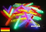 Decotrend-Line Mini Sticks Neon Mix 6 Farben Fluo Glow LED Größe: 38 x 4,5 mm, Sortiert, 120051