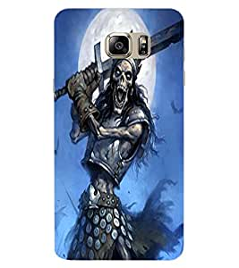 ColourCraft Fighting Skeleton Design Back Case Cover for SAMSUNG GALAXY NOTE 6