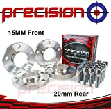 Staggered Fitment Hubcentric Alloy Wheel Spacers 15mm/20mm for ƁMW 5 Series Alloy Wheels