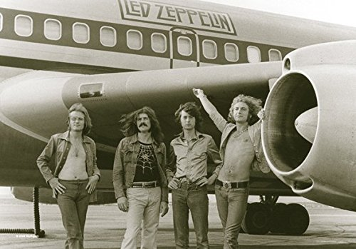 Heart Rock Licensed Bandiera Led Zeppelin - Airplane, Tessuto, Multicolore, 110X75X0,1 cm