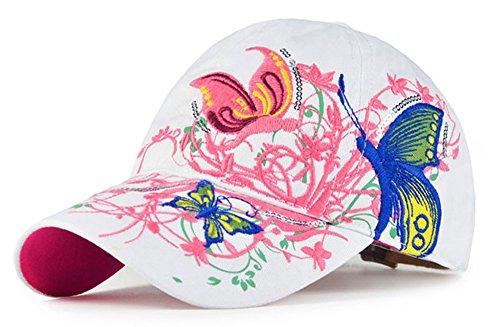 Frauen-Baseball Kappe Mütze-Leichte Kappe mit Schmetterling und (Frauen Hut Matrosen Für)