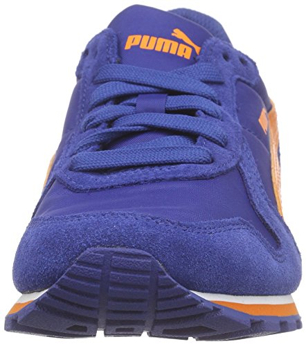 Puma Unisex-Kinder St Runner Nl Jr Low-Top Blau (limoges-vibrant orange 08)